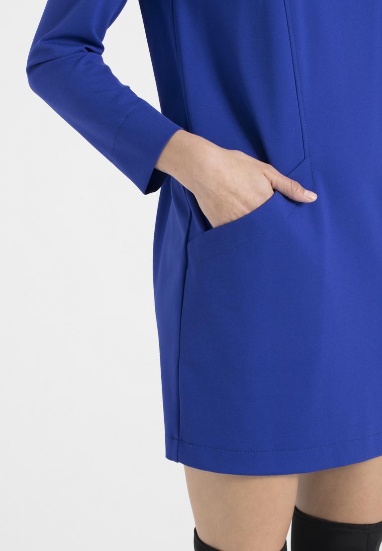 Detailansicht von Ana Alcazar Kleid mit Taschen Ozorea Blau
