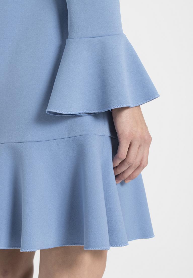 Detailed view of Ana Alcazar Volant Dress Palya Blue