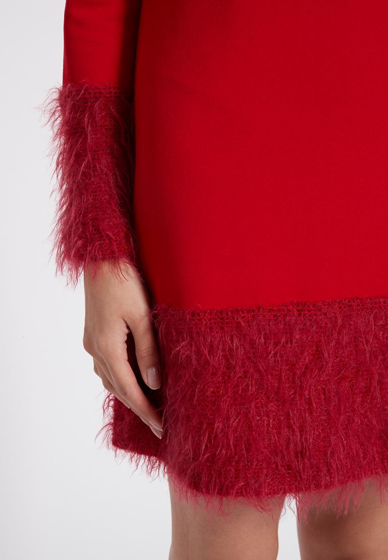 Detailansicht von Ana Alcazar Mix Kleid Petea Rot