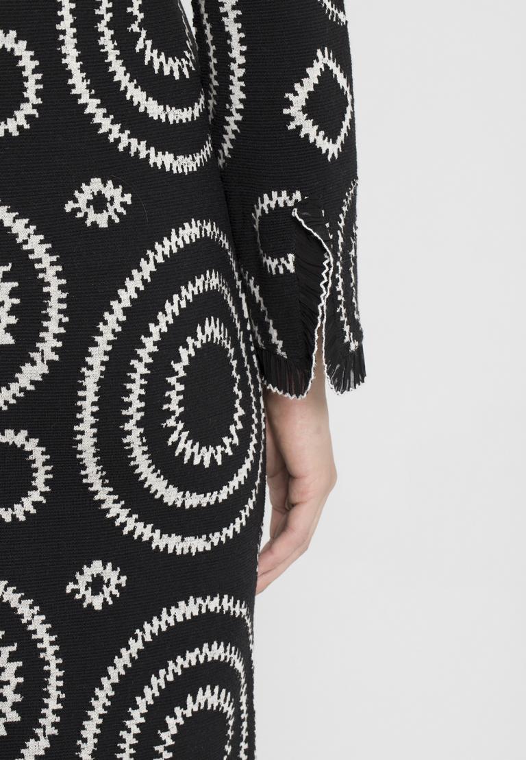 Detailansicht von Ana Alcazar A-Linien-Kleid Pepita Schwarz