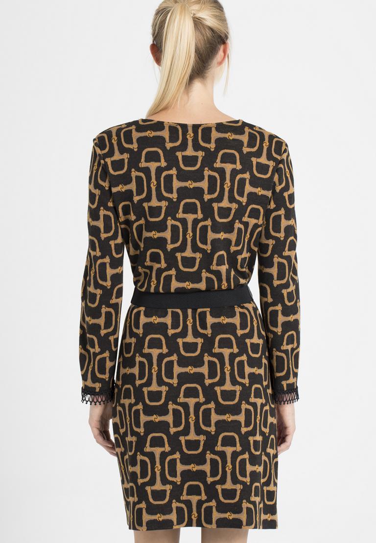 Detailansicht von Ana Alcazar Kleid mit Gürtel Petonna