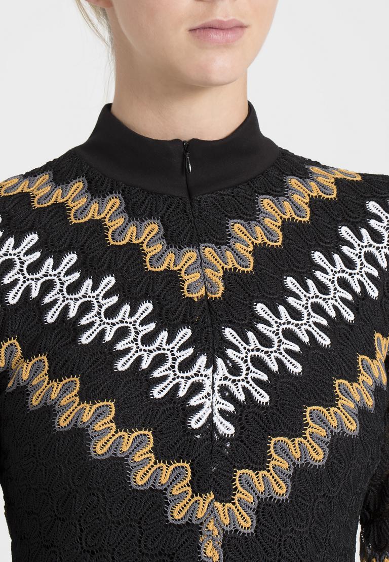 Detailansicht von Ana Alcazar Asymmetrisches Kleid Posira Schwarz