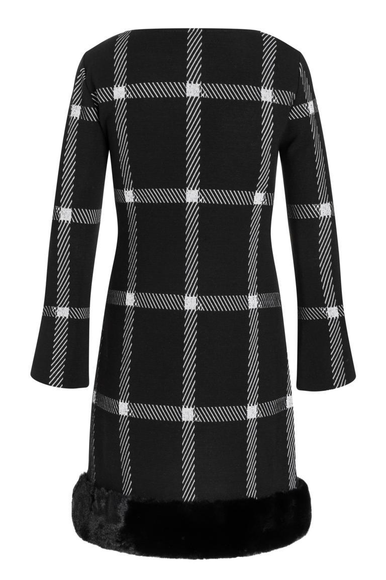 Detailansicht 2 von Ana Alcazar Fake Fur Kleid Pramia Schwarz