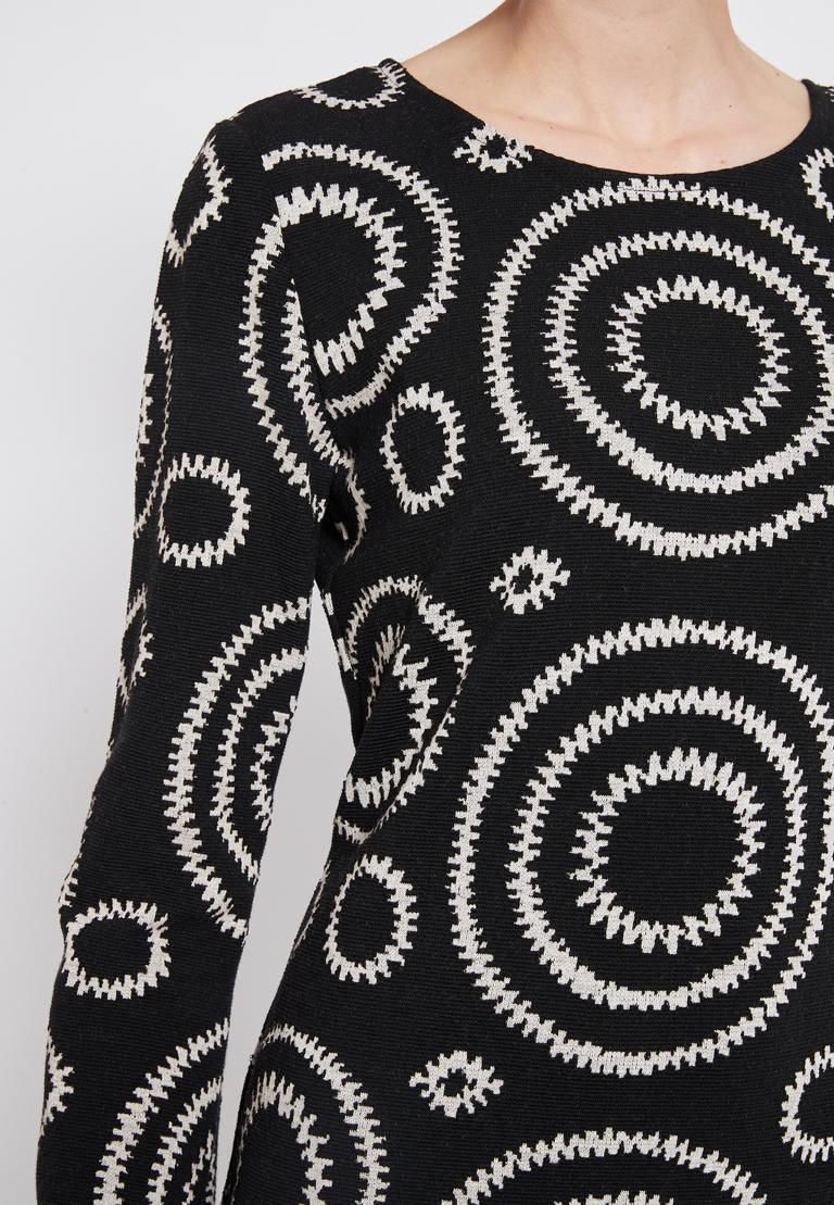 Detailed view 2 of Ana Alcazar Volant Dress Presena Black
