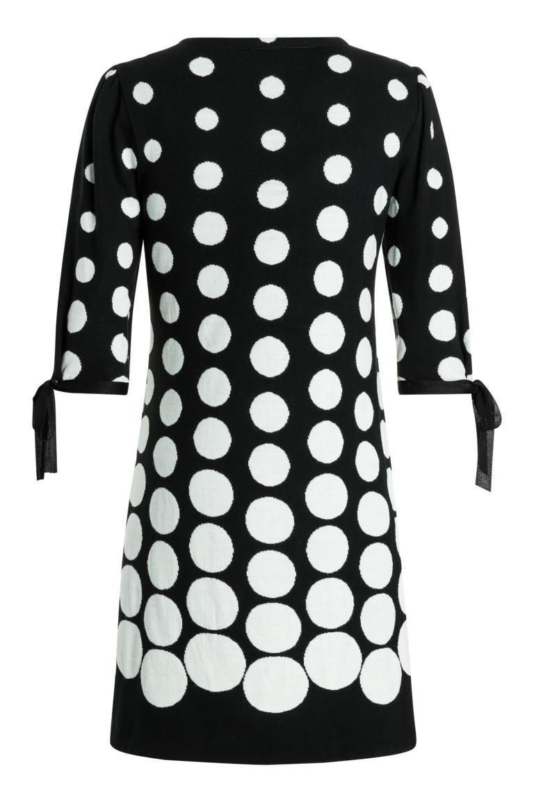 Detailansicht 2 von Ana Alcazar Ärmel Kleid  Palmara Schwarz-Weiß