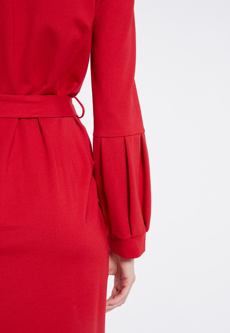 Detailed view 2 of Ana Alcazar Belt Dress Resyly Red