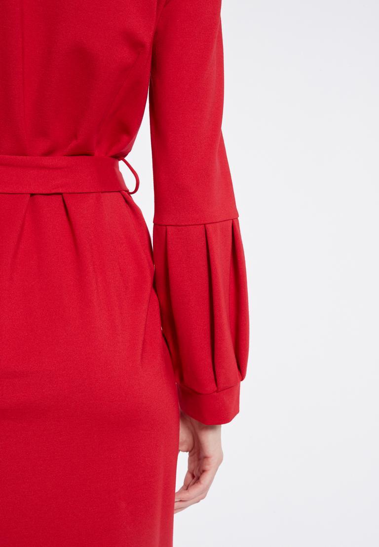 Detailansicht 2 von Ana Alcazar Gürtel Kleid Resyly Rot