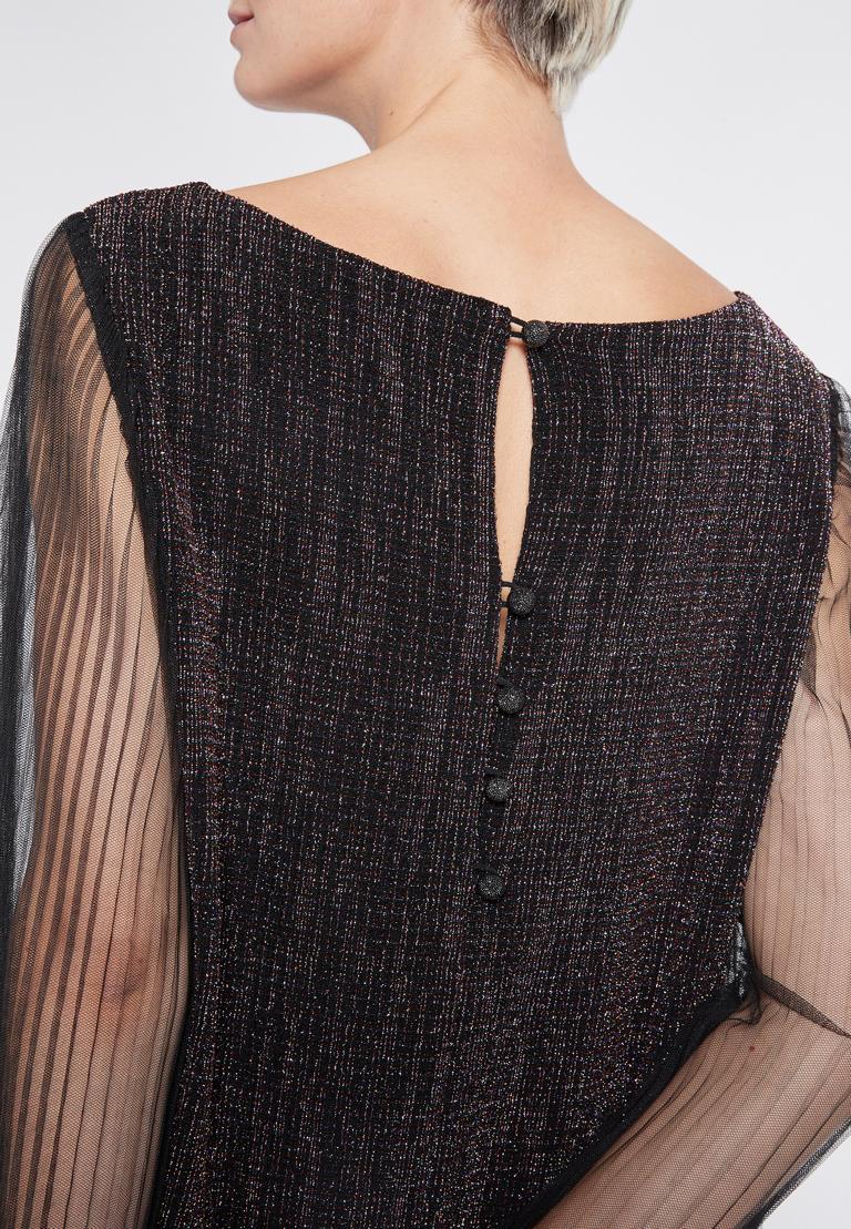 Detailansicht 2 von Ana Alcazar Glitter Plissee Kleid Rafys