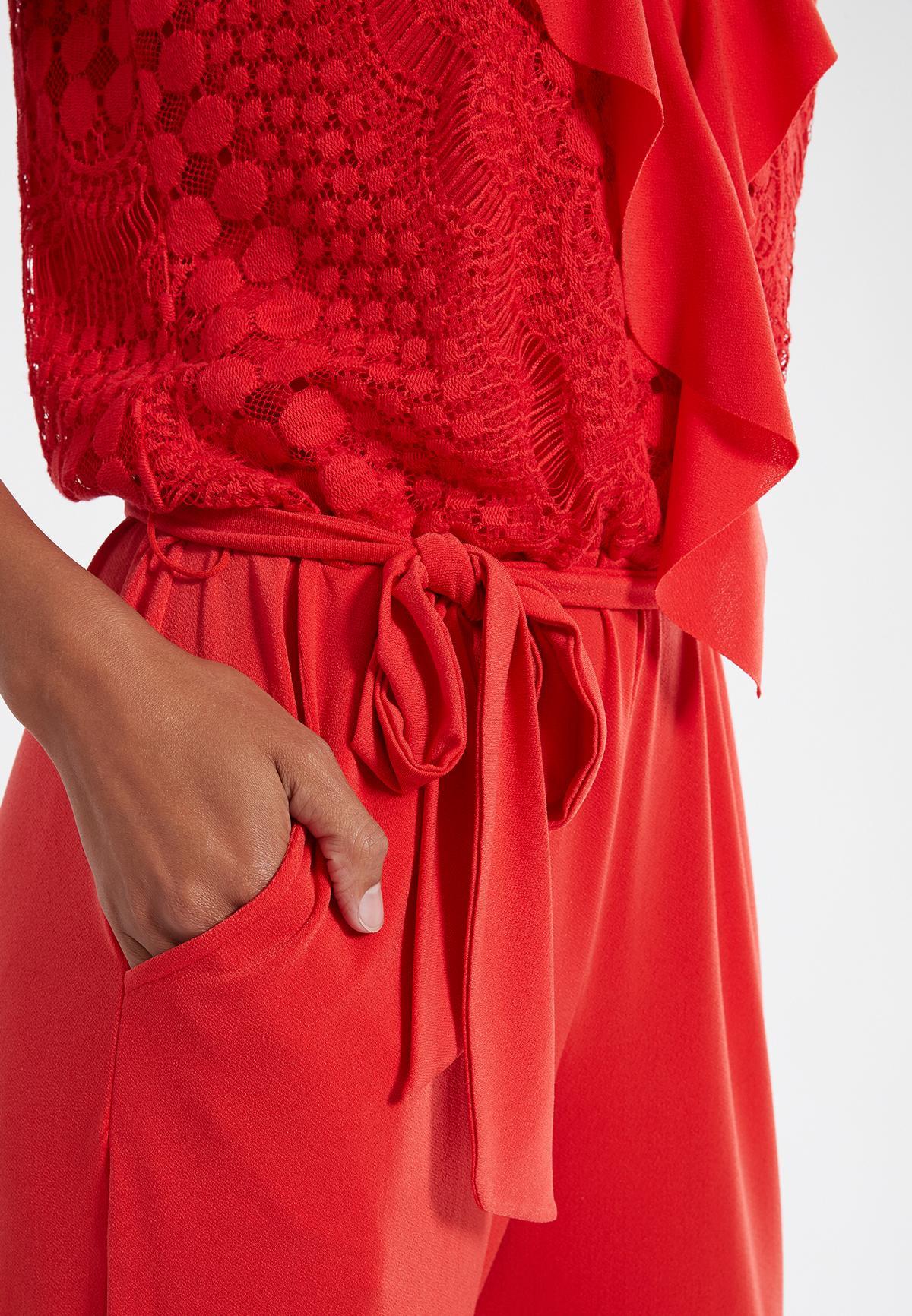 Detailansicht 2 von Ana Alcazar Jumpsuit Saoty Rot