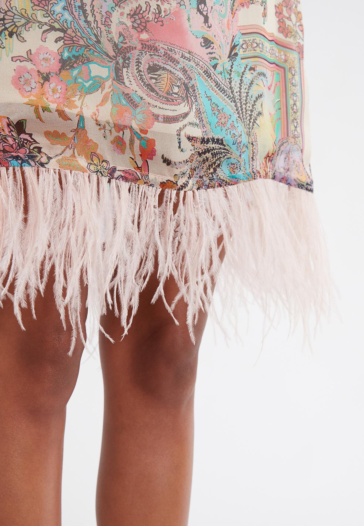 Detailed view 2 of Ana Alcazar A-Shaped Dress Sekato Beige