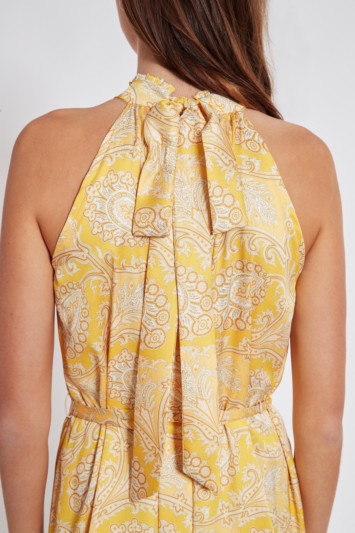 Detailansicht 2 von Ana Alcazar Maxi Kleid Tefamy Gelb