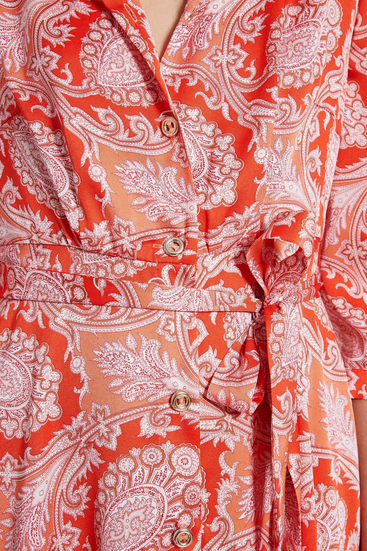 Detailansicht 2 von Ana Alcazar Midi Kleid Tefrole Rot