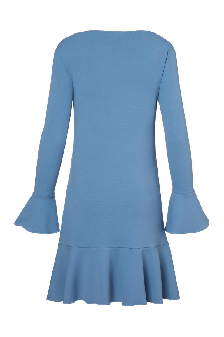 Detailed view 2 of Ana Alcazar Volant Dress Palya Blue