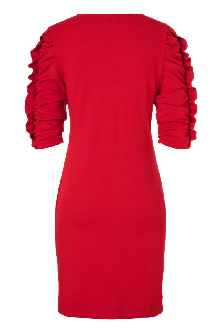 Detailansicht 2 von Ana Alcazar Kleid mit Raffung Peane Rot