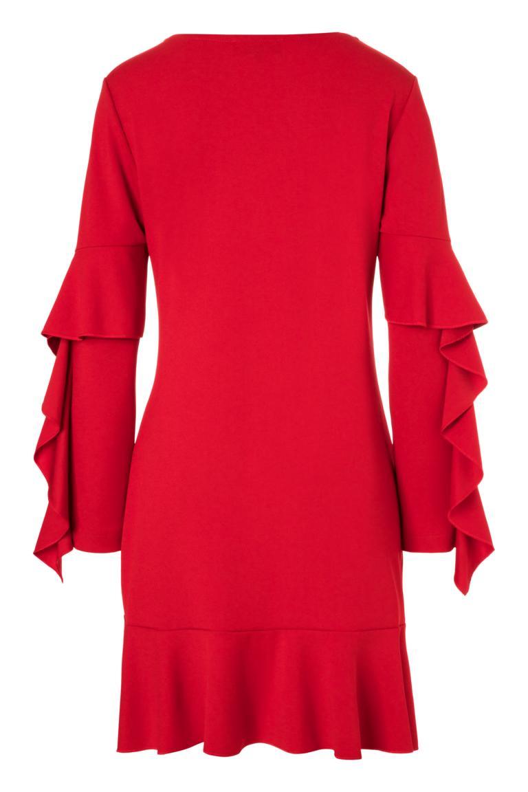 Detailansicht 2 von Ana Alcazar Volantärmel-Kleid Philie Rot