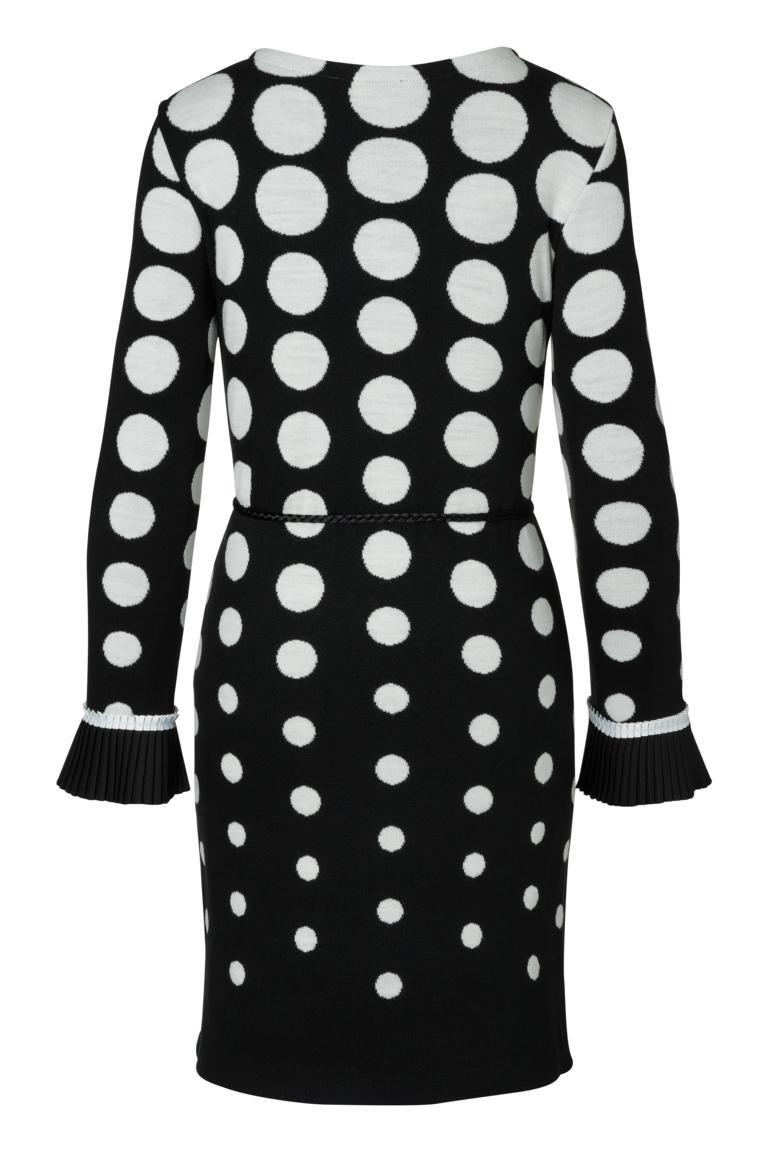 Detailansicht 2 von Ana Alcazar Langarm-Kleid Priya Schwarz-Weiß
