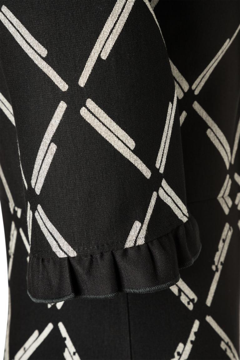Detailansicht 2 von Ana Alcazar V-Ausschnitt Kleid Pranara Schwarz-Weiß