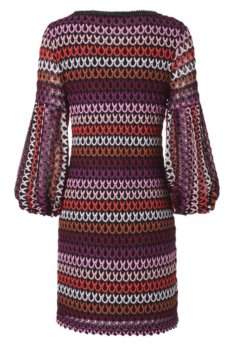 Detailansicht 2 von Ana Alcazar Ballon-Arm Kleid Plyre Bordeaux