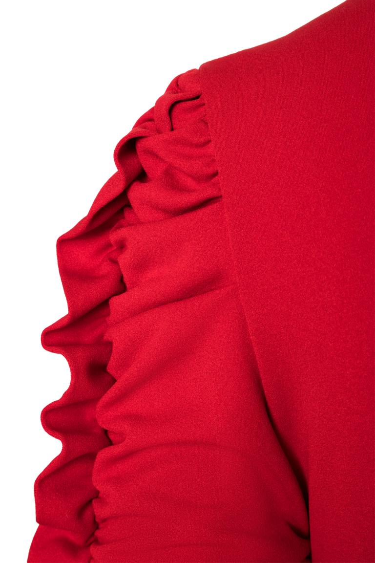PRODUCT_PICTURE_PRE_7Ana Alcazar Kleid mit Raffung Peane Rot PRODUCT_PICTURE_SUF_7