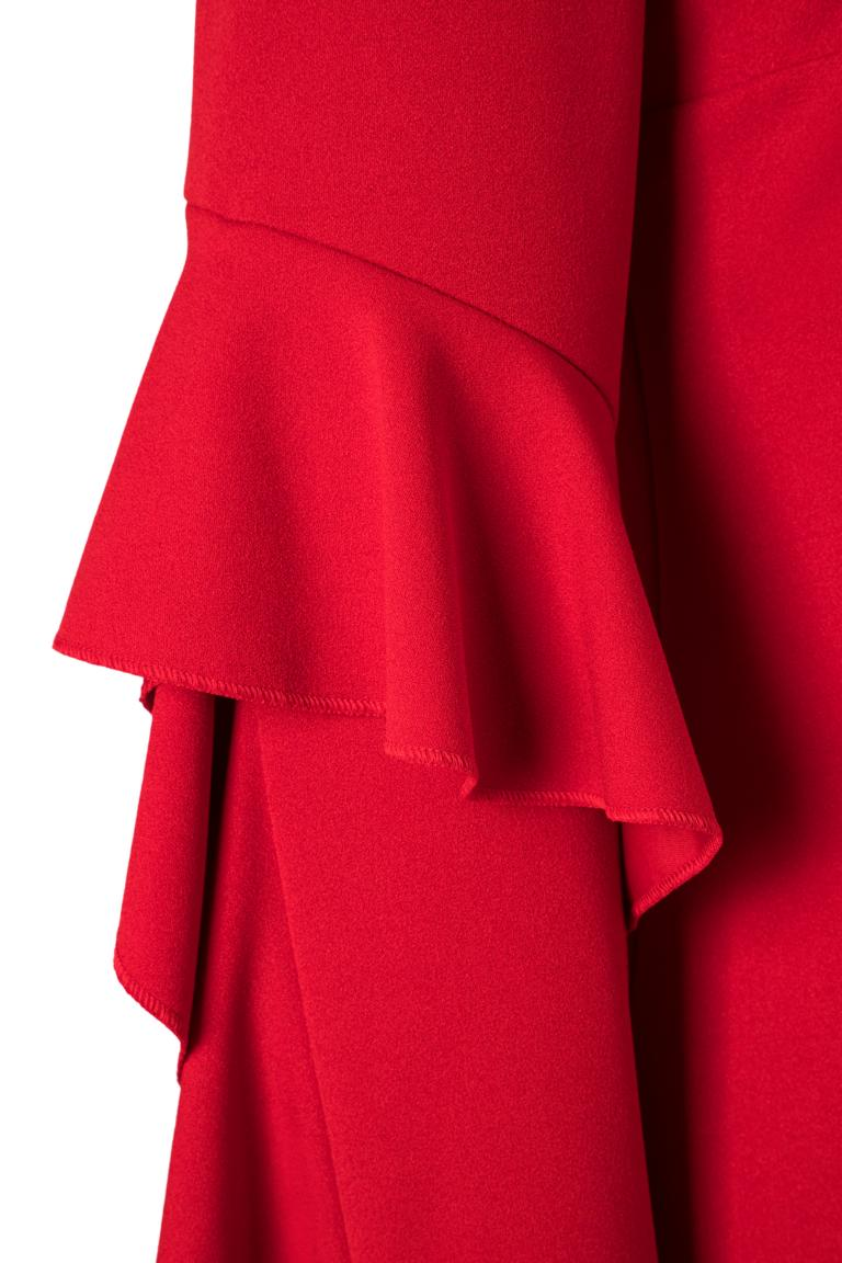 PRODUCT_PICTURE_PRE_7Ana Alcazar Volantärmel-Kleid Philie Rot PRODUCT_PICTURE_SUF_7